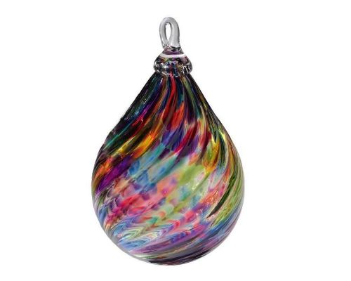 Aurora Borealis Glass Christmas Ornament