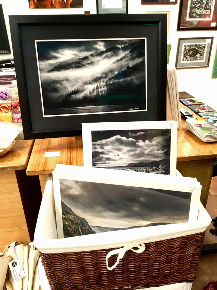Peter Strait photography at Starboard Frames & Gifts in Ketchikan