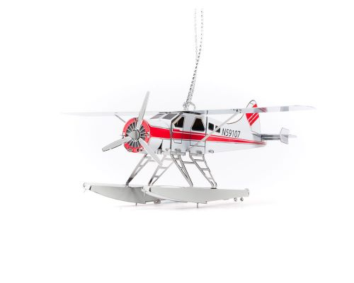 Ketchikan Stainless Steel Floatplane Ornament