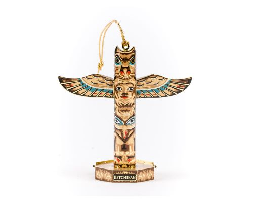 Ketchikan Solid Brass Totem Pole Ornament