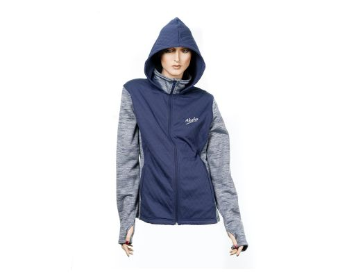 Ladies Alaska Diamond 3D Hooded Fleece Jacket In Blue
