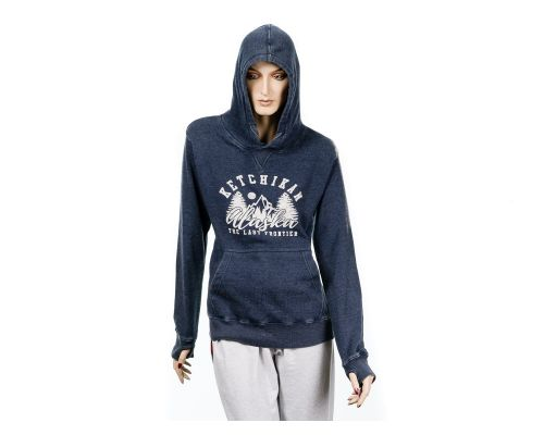Women's Vintage Washed Alaska Hoodie Established 1959