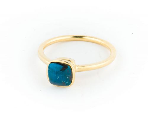Star Of Alaska Small Ladies Stacking Ring With Surrounding Stones
