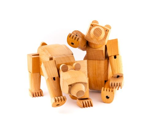 David Weeks Studio Ursa The Wooden Bear Toy
