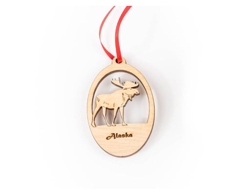 Alaska Moose Stencil Ornament