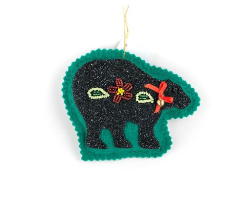 Bear Felt Beaded Ornament