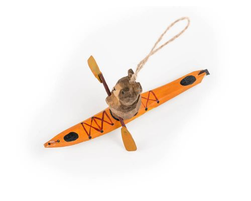 Bear Paddling In A Kayak Ornament