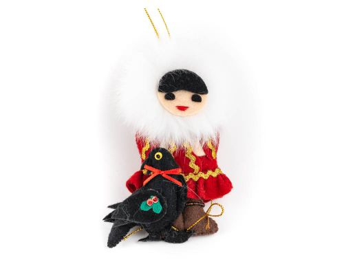 Eskimo With Raven Ornament