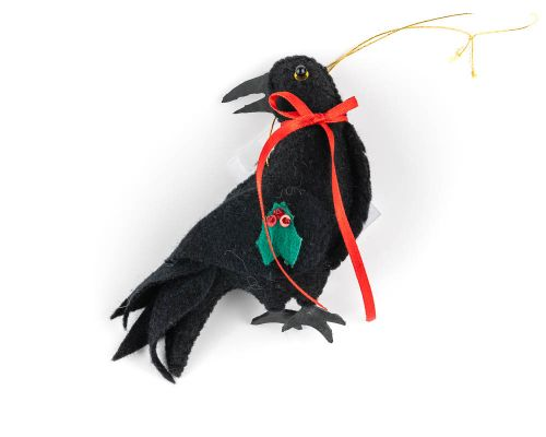 Raven With Mistletoe Ornament