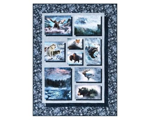 Drop Shadow Collage Quilt Kit
