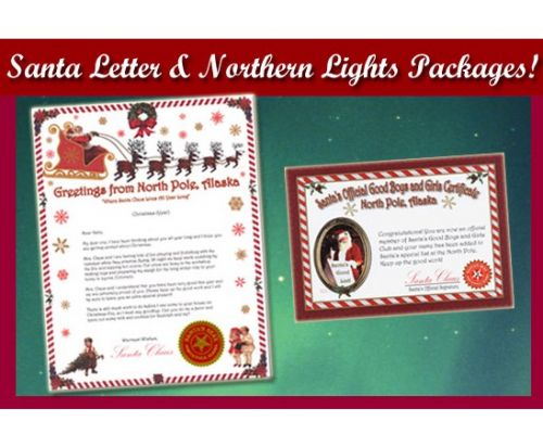 Letter From Santa For Baby's And Kids Northern Lights Edition