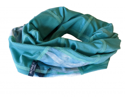 Geo Neck Gaiter Glacial Teal