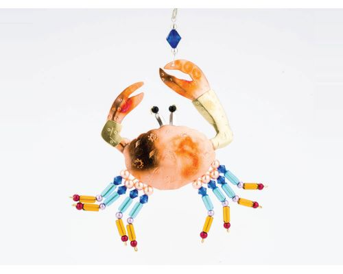 Colorful Crab Metal Ornament