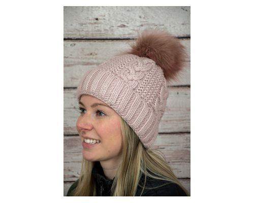 Village House - Fur Pom Beanie