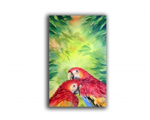 """Red Macaw's"" Painting"