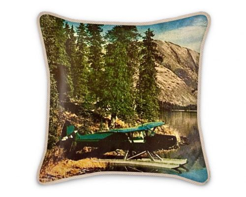 Alaska Kenai Super Cub Float Plane 1961 Silk Pillow