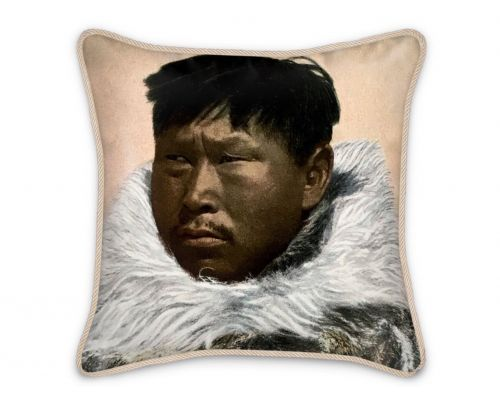 Alaska Nome Native Man Atziruk Silk Pillow
