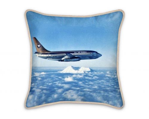Air Travel Wien Air Alaska Boeing 737 Silk Pillow