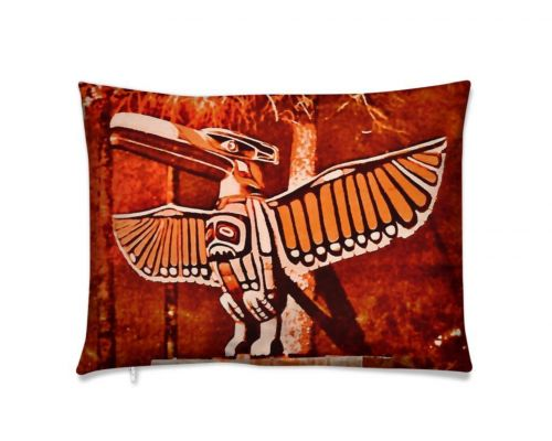 Alaska Red Eagle Totem Luxury Pillow