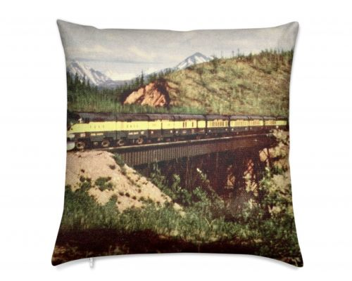 Alaska Railroad Classic Train Luxury Pillow