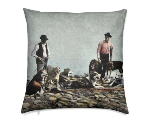 Alaska Huskies and Pioneer Mushers Luxury Pillow