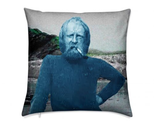 Arctic Explorer Randolf Franke at Alaska's Muir Glacier Luxury  Pillow