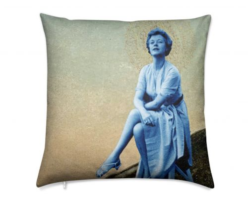 Miss Alaska 1922 Thrown Detail  at Taku Glacier Luxury Pillow