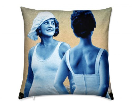 Miss Alaska 1922 Both Sides Detail  at Taku Glacier Luxury Pillow