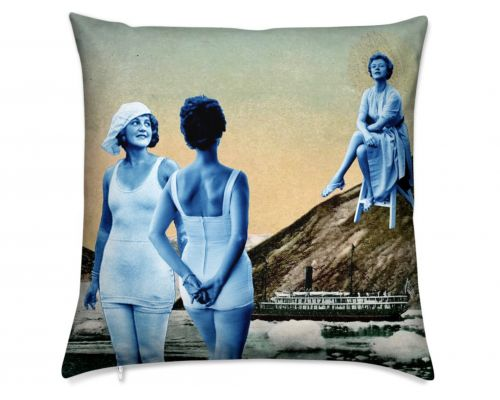 Miss Alaska 1922 at Taku Glacier Luxury Pillow