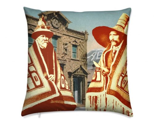 Skagway Alaska Native Brotherhood Luxury Pillow