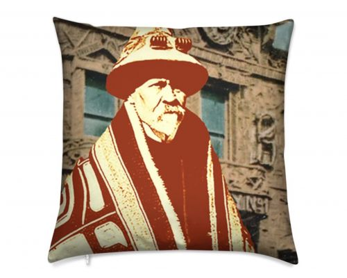 Skagway Alaska Native Brotherhood Kashevaroff Luxury Pillow