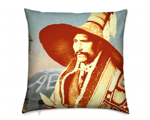 Skagway Alaska Native Brotherhood Yah-Kwan Luxury Pillow