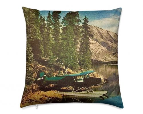 Alaska Kenai Super Cub Float Plane 1961 Luxury Pillow