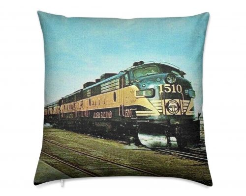 Alaska Railroad Streamliner Aurora Luxury Pillow