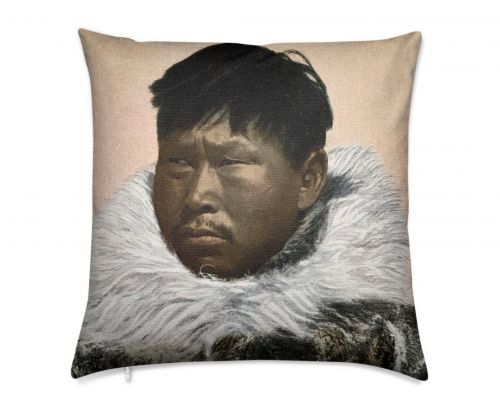 Alaska Nome Native Man Atziruk Luxury Pillow