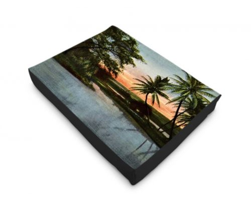 Hawaii Hilo Cocanut Lagoon Territorial Dog Bed