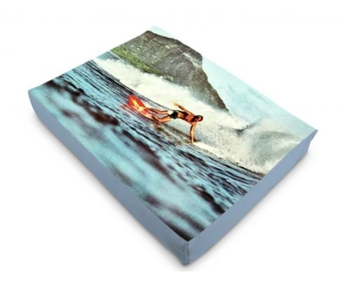 Hawaii Oahu Honolulu Diamond Head Surfer Dog Bed