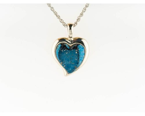 Star Of Alaska Heart Shaped Covellite Pendant