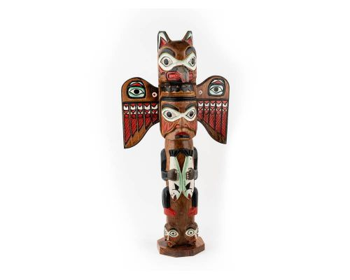 Alaska Black Diamond Fog Woman Totem Pole